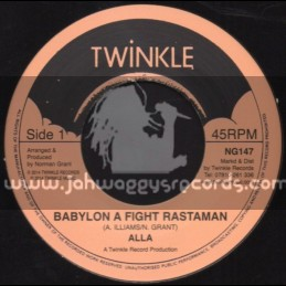 "Twinkle-7""-Babylon A Fight Against Rastaman / Alla"