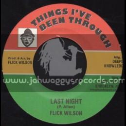 "Things I ve Been Through-7""-Last Night / Flick Wilson"