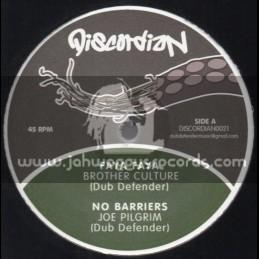 "Discordian-12""-Faya Faya / Brother Culture + No Barriers / Joe Pilgrim (Dub Defender)"