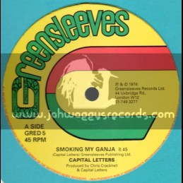 "Greensleeves-12""-Smoking My Ganja + Natty Walk / Capital Letters"