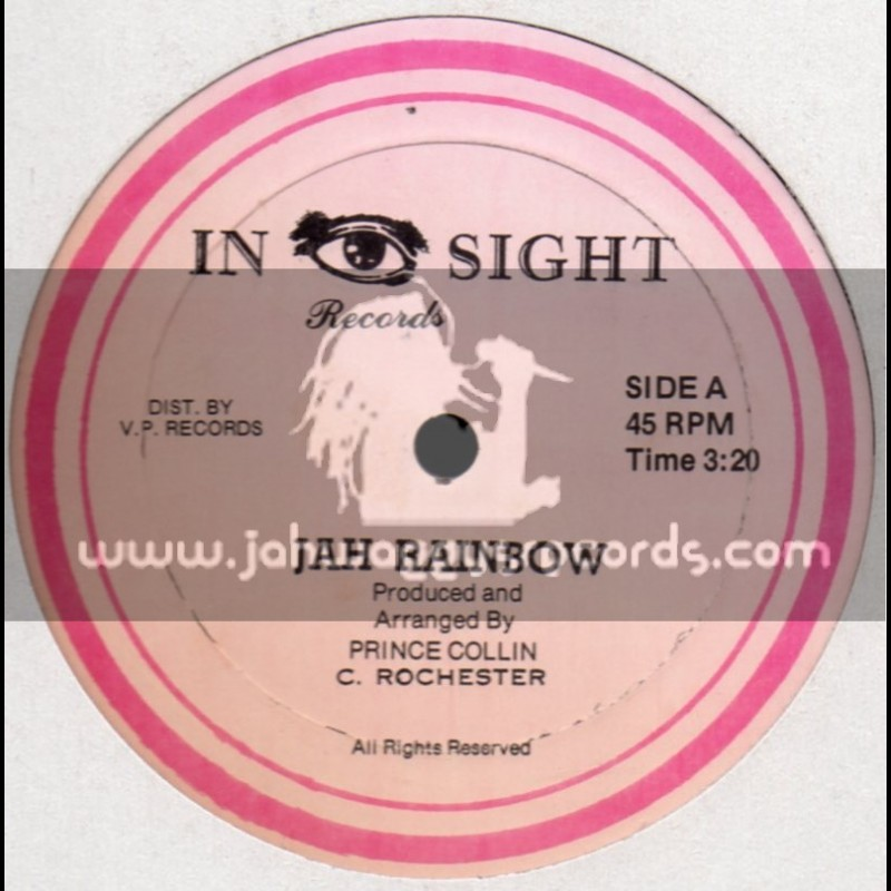 """In Sight Records-12""""-Jah Rainbow + Standing Alone / Prince Collin"""