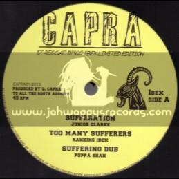 "Capra-12""-Sufferation / Junior Clarke + Jump & Twist / U-Irie & Capra dread"