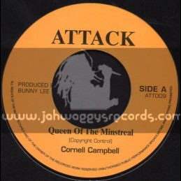 """Attack-7""""-Queen Of The Minstreal + Jah Jah Mi An Ya / Cornell Campbell"""