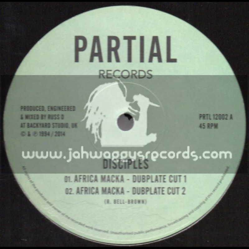 """Partial Records-12""""-Test Press-African Macka + Exodus / The Disciples (Dubplate Style)"""