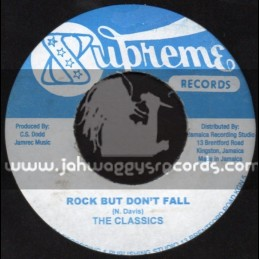 """Supreme Records-7""""-Rock But Dont Fall / The Classics + Love Me A Version / D. Alcapone & Leroy"""