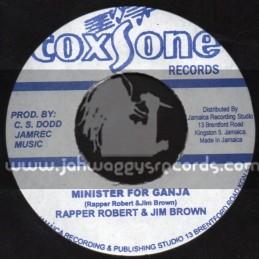 "Coxsone Records-7""-Minister For Ganja / Rapper Robert & Jim Brown"