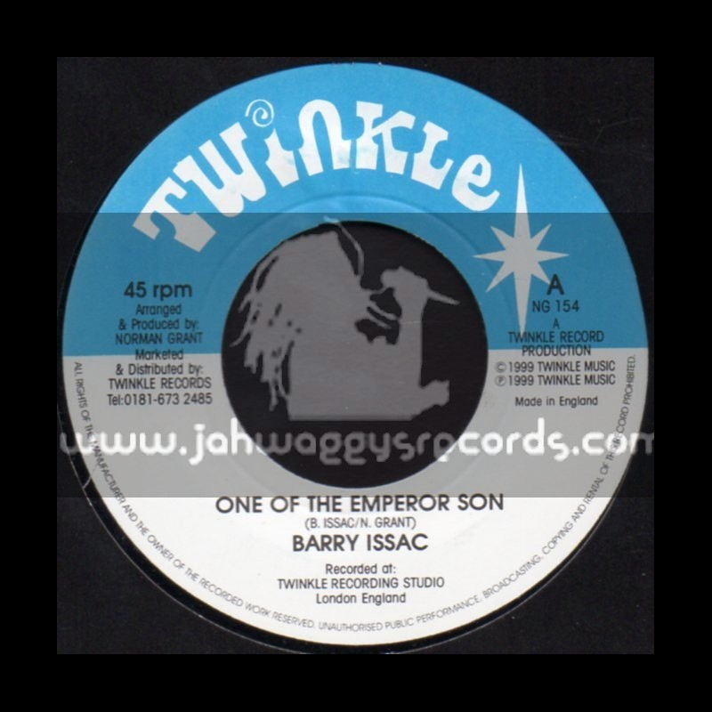 """Twinkle-7""""-One Of The Emperor Son / Barry Issac"""