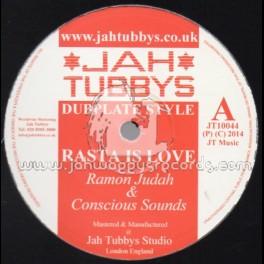 "Jah Tubbys-10""-Rasta Is Love / Ramon Judah (Conscious Sounds) + Big Wheel / Tatty Levi (Unitone)"