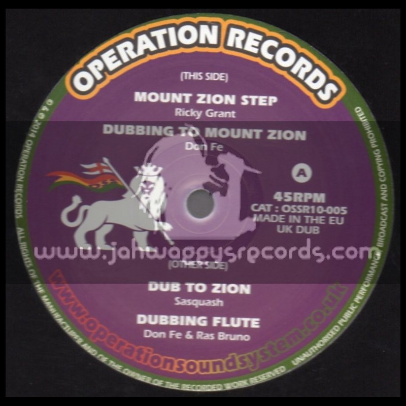 """Operation Records-10""""-Mount Zion Step / Ricky Grant"""