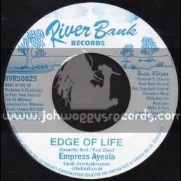 "RiverBank Records-7""-Edge Of Life / Empress Ayeola"