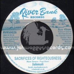 """RiverBank Records-7""""-Sacrifices Of Righteousness / Jahmali"""