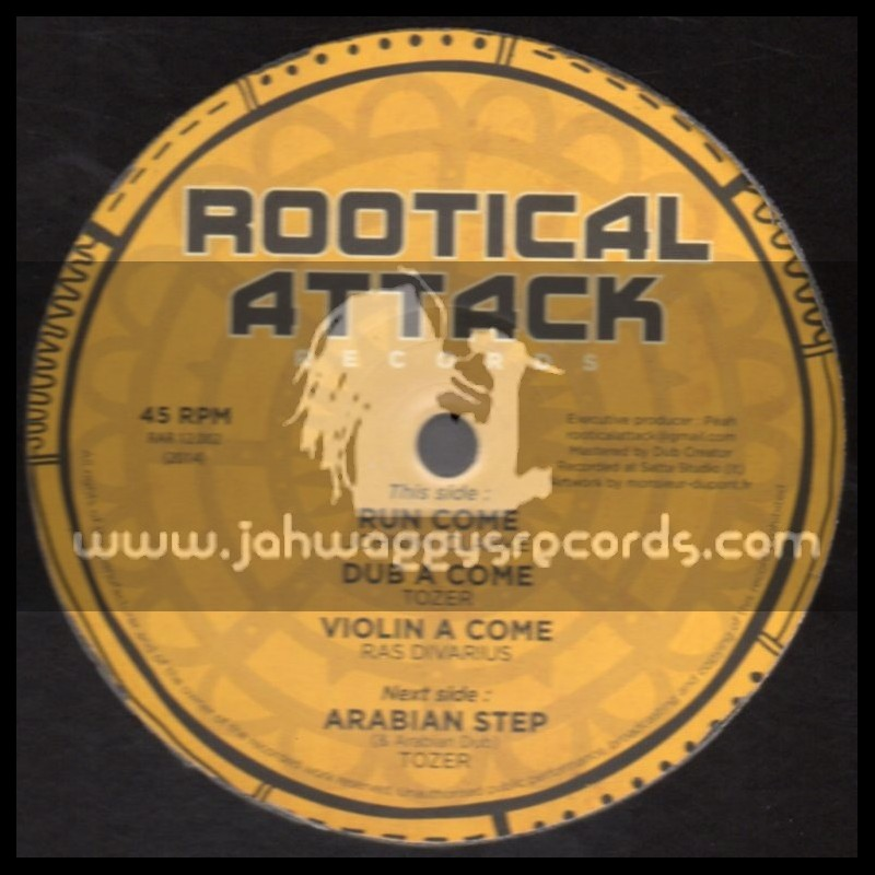 """Rootical Attack Records-12""""-Run Come / Johnny Clarke + Arabian Step / Tozer"""