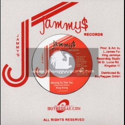 """Jammys Records-7""""-Moving To The Top / King Kong + Hang Dem / King Everald"""