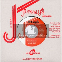 """Jammys Records-7""""-Chase Them Jah / Admiral Tibett + Serious Thing / Pad Anthony"""