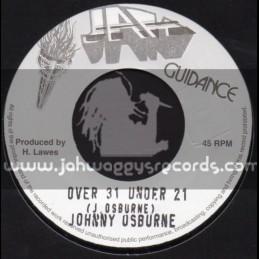 """Jah Guidance-7""""-Over 31 Under 21 / Johnny Osbourne"""