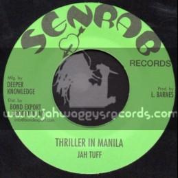 "Senrab Records-7""-Thriller In Manila / Jah Tuf + Wasnt It You / John Clarke"