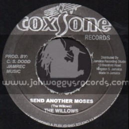 """Coxsone Records-7""""-Send Another Moses / The Willows"""