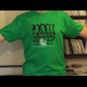 Jah Waggys Records-T Shirts-Green With Black Print-GILDAN Premium Cotton Adult T Shirt