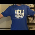Jah Waggys Records-T Shirts-Blue With White Print-GILDAN Premium Cotton Adult T Shirt