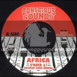 """Conscious Sounds-7""""-Africa / S Kaya & Soloman James Brown"""