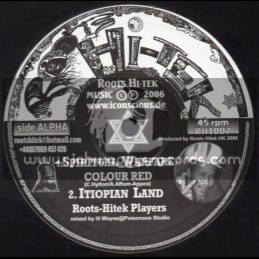 "Roots Hi Tek-10""-Spiritual Warfare + When I Rise / Colour Red"