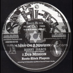 """Roots Hi Tek-10""""-Man On A Mission + Live Not For Vanity / Barry Isaacs"""