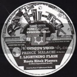 "Roots Hi Tek-10""-Gideon Trod + Trodition / Prince Malachi"