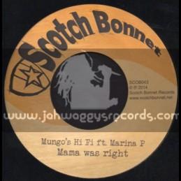 """Scotch Bonnet-7""""-Mama Was Right / Marina P"""