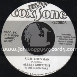 "Coxsone Records-7""-Righteous Man / Albert Griffiths & The Gladiators"
