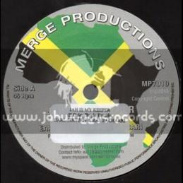"Merge Production-7""-Jah Is My Keeper / Earl 16 & Ras Zacharri"
