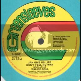 """Greensleeves-12""""-Jah Give Us Life + War / Wailing Souls"""