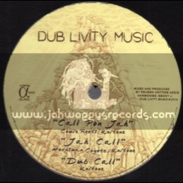 """Dub Livity Music-12""""-Call On Jah / Couie Roots + Give Thanks & Praises / Ras Teo"""