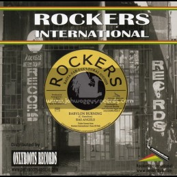 "Rockers International-7""-Babylon Burning / Ras Angels"