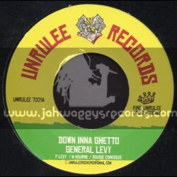 """Unrulee Records-7""""-Down Inna Ghetto / General Levy + They Should Know / Ishabel"""