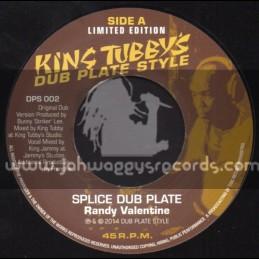"Dub Plate Style-7""-Splice Dub Plate / Randy Valentine + When Dance Use To Get Ram / Captain Sinbad ( King Tubbys)"