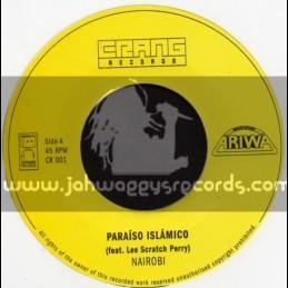 "Ariwa-Crang Records-7""-Paraiso Islamic / Lee Perry + Storm Dub / Narobi"