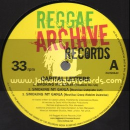 "Reggae Archive Records-12""-Smoking My Ganja + House Breaker + Reality / Capital Letters (Manasseh Remixes)"