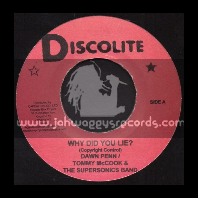 "Discolite-7""-Why Do You Lie / Dawn Penn + Moody Ska / Tommy McCook & The Supersonic Band"