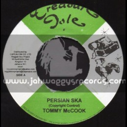 "Treasure Isle-7""-Persian Ska / Tommy McCook + Once A Man Twice A Child / Justin Hinds"
