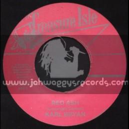 "Treasure Isle-7""-Red Ash / Karl Bryan + Blue Bird / The Silvertones"