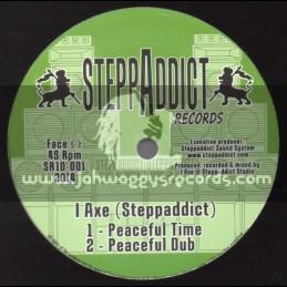 """SteppAddict Records-10""""-Freedom / Weeding Dub Ft. Little R + Peaceful Time / I Axe -Steppaddict"""