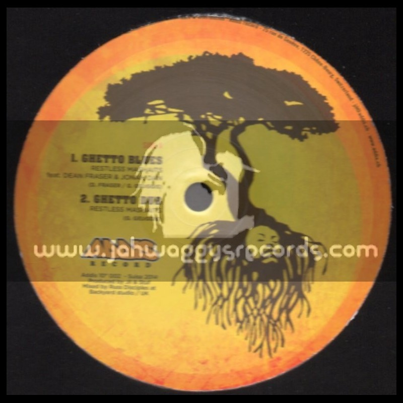 """Addis Record-10""""-Ghetto Blues + The Riddim The Rebel / Restless Mashaits"""