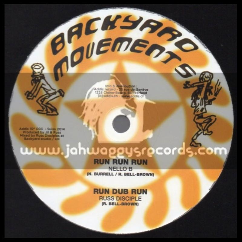 "Addis Record-10""-I N I Soldier / Nello B & Sizzla Kalonji + Backyard Movements-10""-Run Run Run / Nello B"
