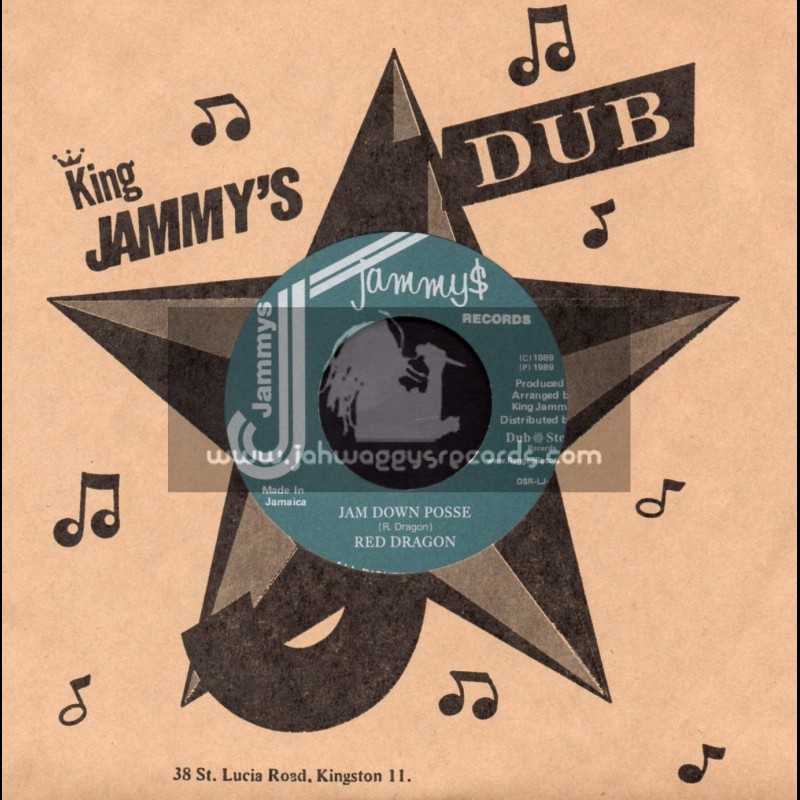 """Jammys Records-7""""-Jam Down Posse / Red Dragon"""