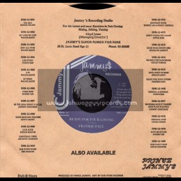 "Jammys Records-7""-Love Light Of Mine / Horace Andy + Ready For Your Loving / Frankie Paul"