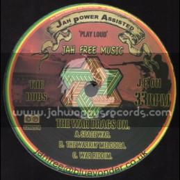"""Jah Free Music-12""""-The War Drags On / Jah Free/Donovan + No More War / I Mitri + Rastaman Style / Mat I"""