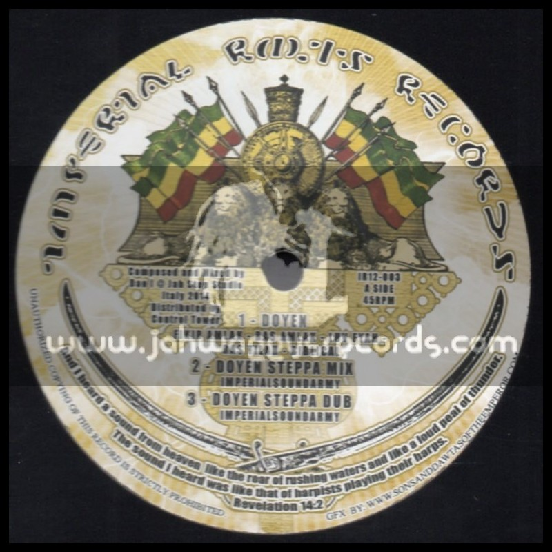 """Imperial Roots Records-12""""-Doyen + Bravery / Fikir Amlak - Imperial Sound Army"""