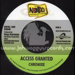 """Notice Productions-7""""-Access Granted / Chronixx + Let Jah Lead The Way / Iba Mahr"""