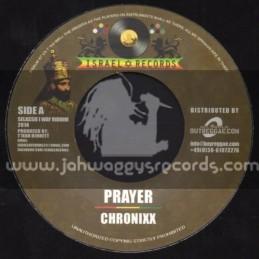 "Israel Records-7""-Prayer / Chronixx + Blaze Again / Zebi Lion"