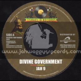 """Israel Records-7""""- Divine Government / Jah 9 + One Way / Pressure"""